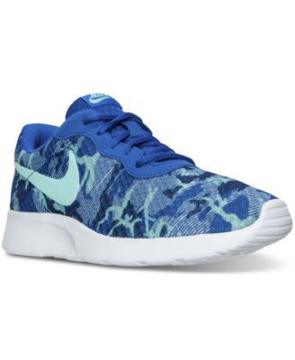 Nike Women's Tanjun Print Casual Sneakers from Finish Line