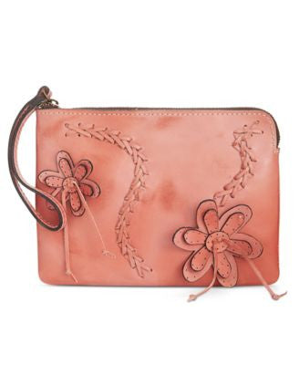 Patricia Nash Cassini Braided Flower Wristlet