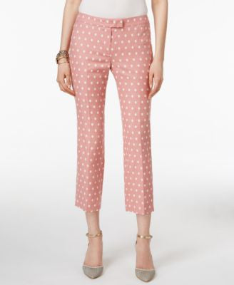 Anne Klein Polka-Dot Cropped Pants