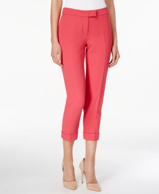 Anne Klein Cuffed Slim Cropped Pants