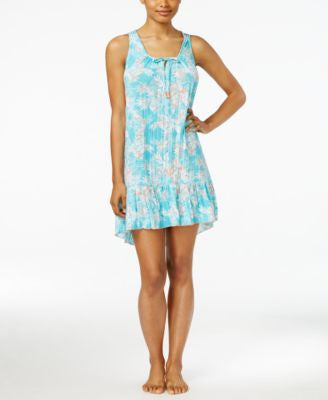 Ellen Tracy Flounce-Hem Short Nightgown