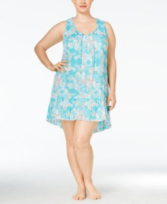 Ellen Tracy Plus Size High-Low-Hem Nightgown