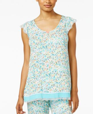 Ellen Tracy Pleated Pajama Top