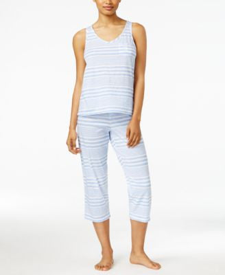 Lauren Ralph Lauren Striped Top and Pants Pajama Set