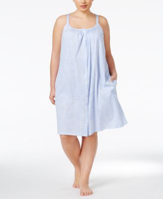 Lauren Ralph Lauren Plus Size Button-Front Nightgown