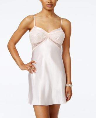 Morgan Taylor Sheer Lace Bridal Chemise, Only at Vogily