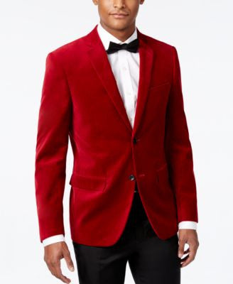 Alfani Velvet Slim-Fit Sport Coat