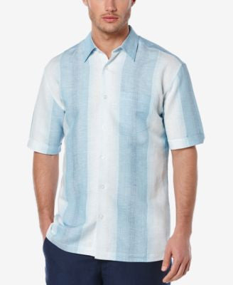 Cubavera Men's Linen Lightweight Stripe Short-Sleeve Shirt