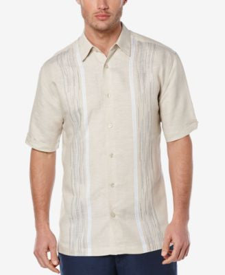 Cubavera Men's Linen Embroidered Short-Sleeve Shirt