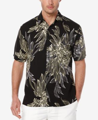 Cubavera Men's Floral-Print Short-Sleeve Shirt