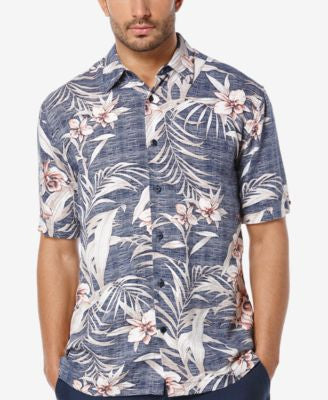 Cubavera Men's Tropical-Print Short-Sleeve Shirt