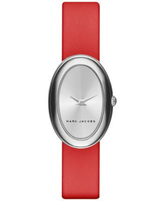 Marc Jacobs Women's Cicely Red Leather Strap Watch 31mm MJ1457