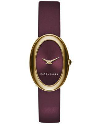 Marc Jacobs Women's Cicely Burgundy Leather Strap Watch 31mm MJ1456