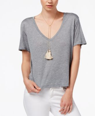 RACHEL Rachel Roy V-Neck Short-Sleeve Top