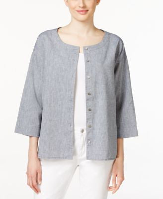 Eileen Fisher Petite Chambray Shirt