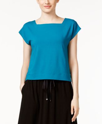 Eileen Fisher Petite Square-Neck Crop Top