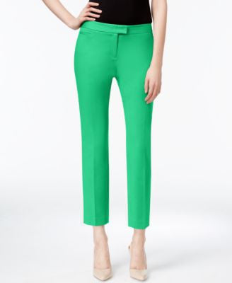 CeCe Cropped Slim-Leg Pants