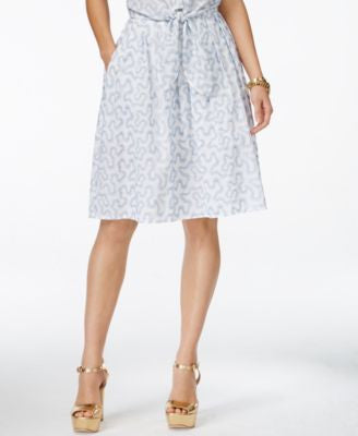 MICHAEL Michael Kors Embroidered Pull-On A-Line Skirt
