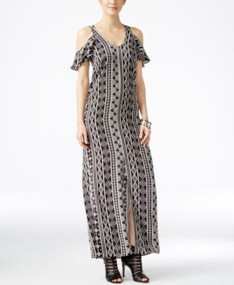 Bar III Cold-Shoulder Maxi Dress, Only at Vogily