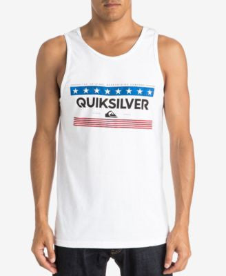Quiksilver Men's The General American Graphic-Print Logo Tank