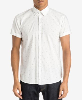 Quiksilver Men's Crossed Out Print Short-Sleeve Shirt