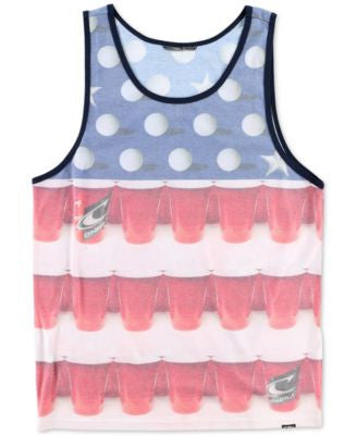 O'Neill Men's American Ping Pong Graphic-Print Tank