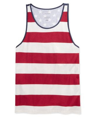 Tavik Men's Colorblocked American Star Stripe-Print Tank