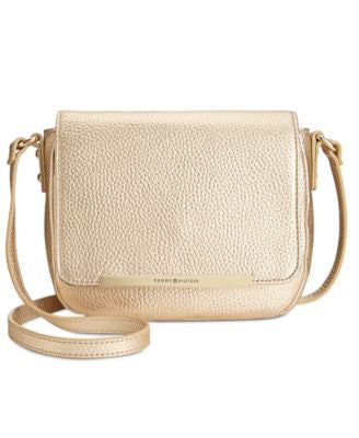 Tommy Hilfiger Jamie Pebble Leather Flap Crossbody