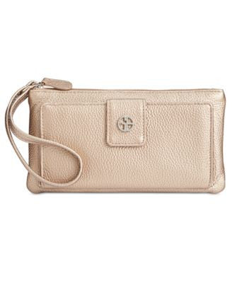 Giani Bernini Softy Grab & Go Leather Wallet & Wristlet, Only at Vogily
