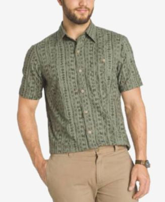 G.H. Bass & Co. Men's Abstract-Print Short-Sleeve Shirt