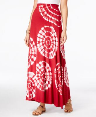 INC International Concepts Petite Tie-Dyed Maxi Skirt, Only at Vogily