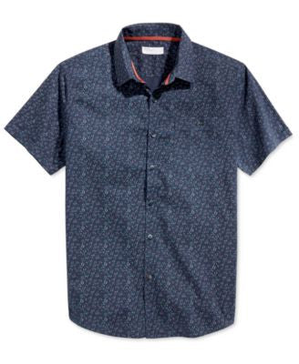 Level 10 Men's Slim-Fit Floral-Print Short-Sleeve Shirt