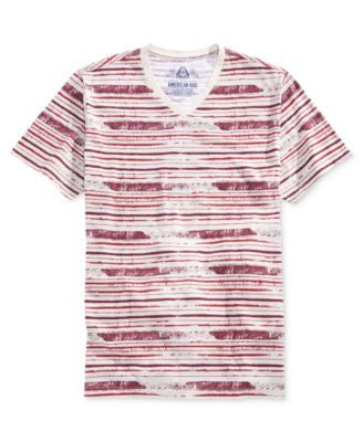 American Rag Men's Striped V-Neck T-Shirt, Only at Vogily