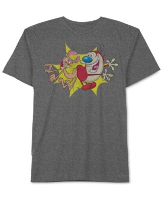 Jem Men's Ren & Stimpy Graphic-Print T-Shirt