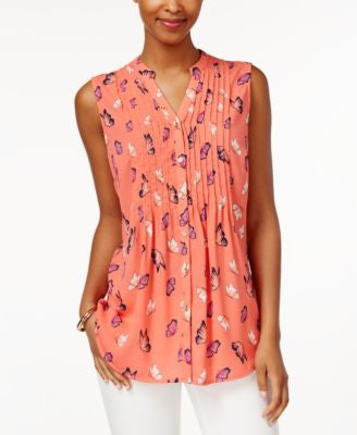 Charter Club Butterfly-Print Blouse, Only at Vogily