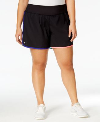 Ideology Plus Size Woven Speed Shorts, Only at Vogily