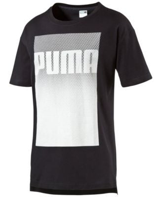 Puma Men's Evolution Long-Hem Logo T-Shirt