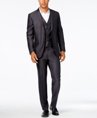 INC International Concepts Men's Dave Vested Suit, Only at Vogily