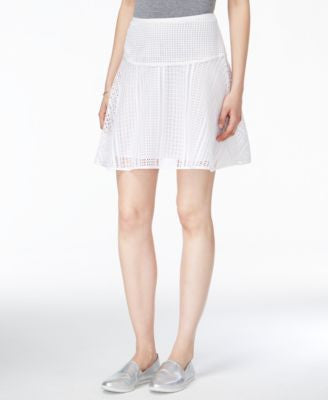 Armani Exchange Open-Stitch Mini Skirt