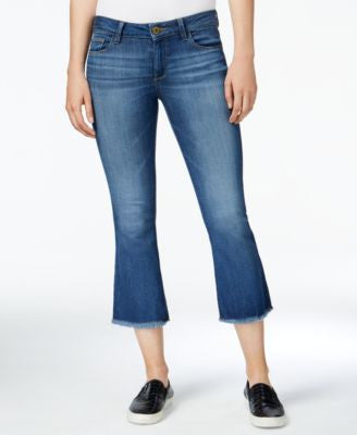 DL 1961 Lara Fauna Wash Cropped Flared Jeans