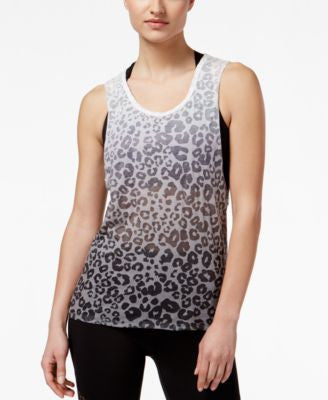 Material Girl Active Juniors' Cutout-Back Burnout Tank Top, Only at Vogily