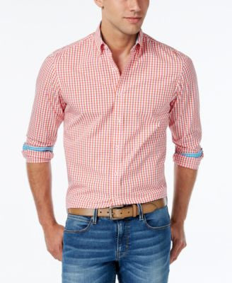 Weatherproof Men's Two-Tone Check Long-Sleeve Shirt