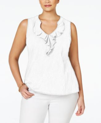 Charter Club Plus Size Ruffle Blouse, Only at Vogily