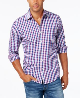 Weatherproof Men's Two-Tone Large-Check Long-Sleeve Shirt