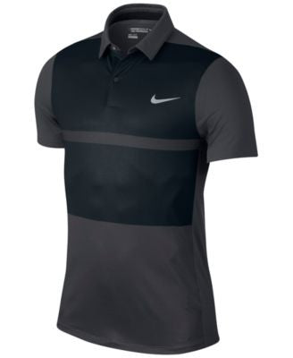 Nike Men's MM Fly Framing Block Slim-Fit Golf Polo
