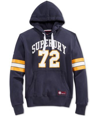 Superdry Men's Tri League Graphic-Print Logo Football Hoodie