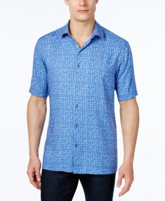 Alfani Men's Abstract-Print Short-Sleeve Shirt, Classic Fit