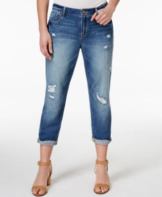 Calvin Klein Jeans Boyfriend Destroyed Bright Sky Wash Jeans