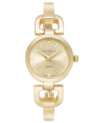 Charter Club Women's Gold-Tone Bangle Bracelet Watch 24mm, Only at Vogily