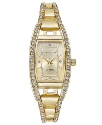 Charter Club Women's Gold-Tone Square Link Bracelet Watch 20mm, Only at Vogily